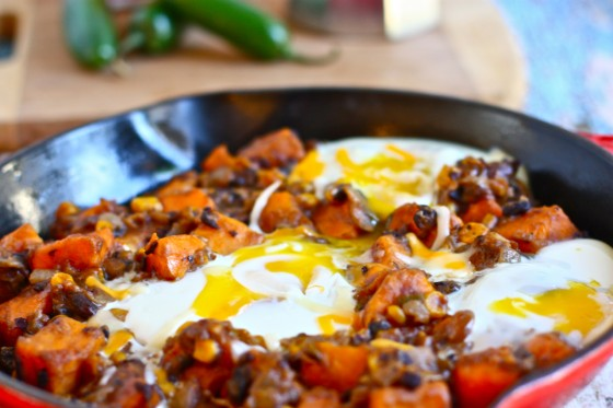 Southwestern Sweet Potato Breakfast Skillet