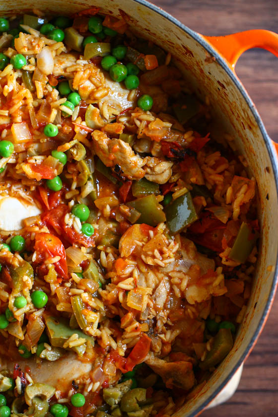 ... arroz con pollo with plenty of hot sauce! And maybe a mojito (or two