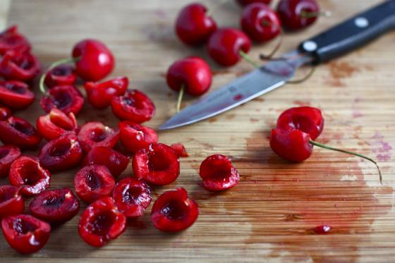can t find cherries yet where you are you can use frozen bing cherries ...
