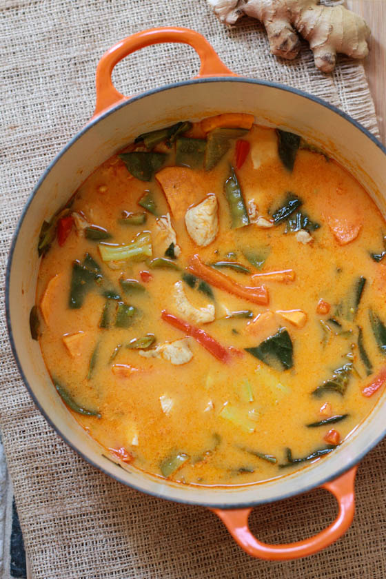 Red thai curry chicken for Best thai red curry