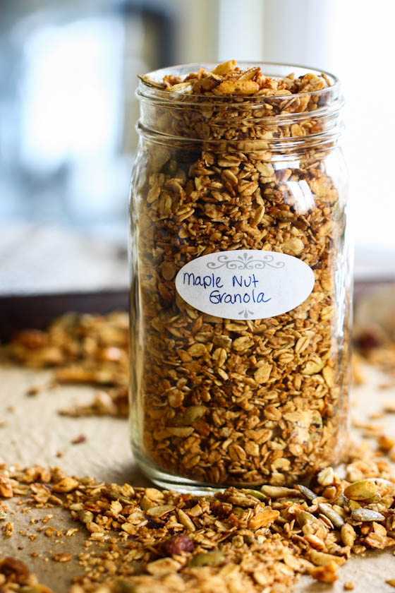 maple nut granola-9390